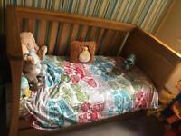 Mamas and papas solid oak cot/bed