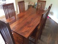 Sheesham dining table and chairs