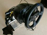 THRUSTMASTER T300RS PS4 WHEEL & GT OMEGA PRO RACING SEAT &