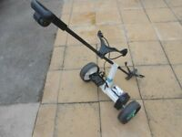 Electric Golf Trolley Powakaddy rio with charger and battery,