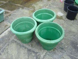 buy 3 round plastic garden tubs.