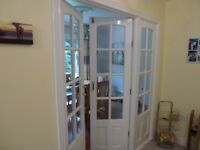 complete internal glazed door set with frame