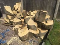 LOGS FIRE WOOD TREE LOGS FOR LOG BURNER STOVES FIRE PLACES - Can deliver locally