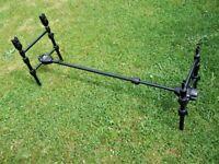 Carp Fishing Pod, Nash Hooligan 2 Rod + 2 Nash S5 Alarms
