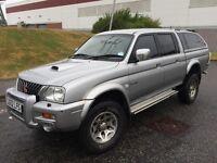 2003 (52) MITSUBISHI L200 WARRIOR 2.5 DIESEL MANUAL DOUBLE CAB PICK UP TRUCK 4X4