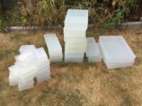 Clear craft storage boxes bundle