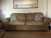 Large light brown Leather Sofa