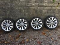 GENUINE VW INTERLAGO TURBINE ALLOYS AND TYRES