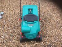 Electric Bosch lawn raker