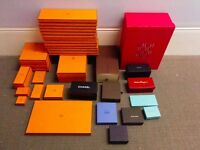 Collection: Hermes, Chanel, Louis Vuitton, Ferragamo, Loro Piana, D&G - Empty boxes & shopping bags