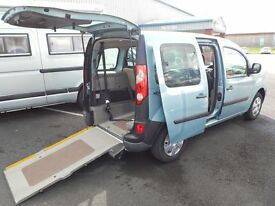 Wheelchair Accessible Renault Kangoo WAV 2011 12 month warranty SOLD OTHERS AVAILABLE