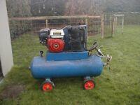 Petrol engined compressor