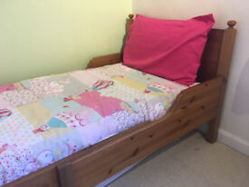Child's IKEA extendable bed (wooden)