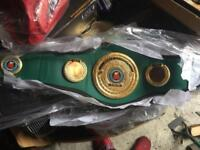 3/4 sized IBO world title boxing championship belt