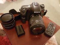 Sony A77 dslr camera and lens