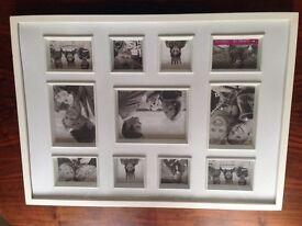 Large multi window photo frame