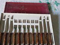 steak knives and forks set