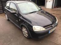 Vauxhall Corsa 1.2 i 16v Elegance 3dr (a/c), 5 Months Mot , drives well 2003 (03 reg), Hatchback