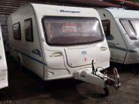 2006 Bailey Ranger 470/4 Berth Side Dinette End Washroom Caravan with Motor Mover