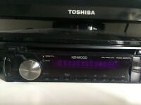 Kenwood single din cd/radio player -- aux port and USB port