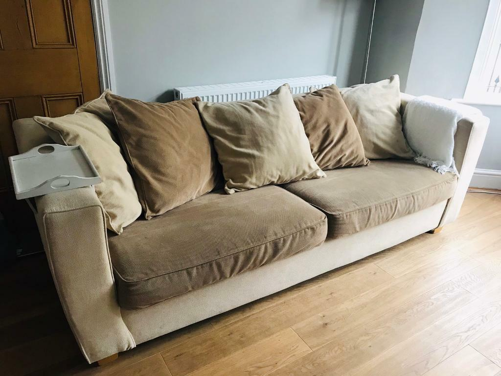 Large Comfortable Fabric Sofa 4 Seater In Victoria Park Cardiff