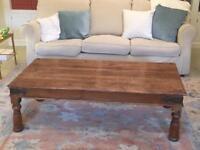 Antique Sheesham Wood Coffee Table