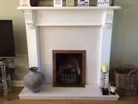 Wooden Painted Fire Surround/Mantel piece