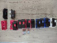 Wylex cartridge fuse carriers. Also available singly