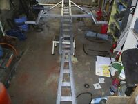 chassis for motor cycle trailer needs wheels and suspension good strong chassis