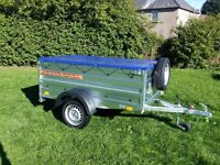 Trailer cars 6x4 double broadside £540 inc vat certificate for left-hand traffic
