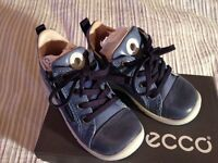 New Ecco toddlers leather ankle boots - uk size 5 / euro size 22 - boxed