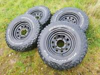 4 x Wheels and tyres 265/75/16 for Defender , Discovery , Range Rover 5×6.5 / 5×165.1