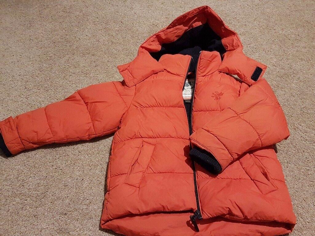 Next Boys extra warm winter padded coat size 4-5 years
