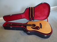 Gibson/Epiphone Acoustic Guitar PR 350 SL And Hard Case. ( Left-Handed)