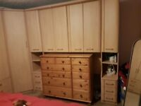 Overbed wardrobes to fit over double bed excellent condition Buyer to dismantle