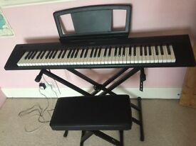 Yamaha Piaggero NP-31 electronic piano keyboard, plus stand & stool