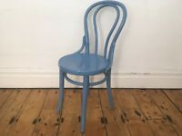 J&J Kohn Mundus Thonet Antique Cafe Bentwood Chair Painted Blue