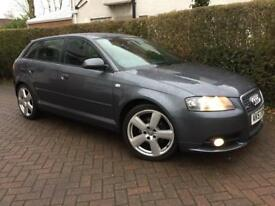 2007 57 AUDI A3 2.0 TDI S LINE 140 BHP*FULL LEATHER*ELECTRIC PACK*MINT CONDITION*#GOLF#SEAT#BMW