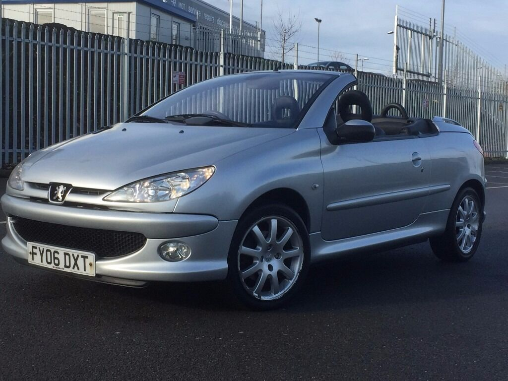 2006 peugeot 206 cc convertible 1 6 petrol leather. Black Bedroom Furniture Sets. Home Design Ideas