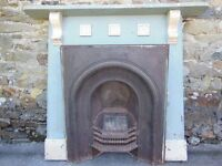 Edwardian Cast Iron Fireplace with Surround