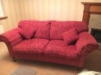 Laura Ashley - Red Two Seater Sofa