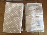 Hippychick bumsters wide fit cot bar bumpers beige