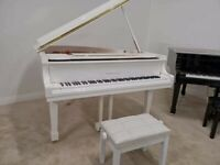 Brand New White SELF PLAYING Baby Grand Piano