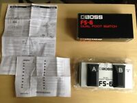 Boss FS-6 Dual Footswitch & 'Y-Cable'- LIKE NEW - HARDLY USED