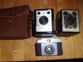 3 Old Cameras