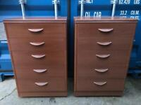 Pair of chest Of 5 Drawers With FREE DELIVERY PLYMOUTH AREA