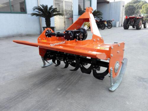 "New 72"" 3 Point Hitch Heavy Duty Rotary Tractor Farm Tiller Cat1 PTO Green"