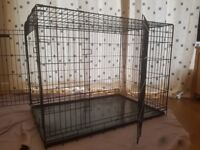 """XL 42"""" dog cage with space divider"""