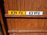 K3v fu Kev kevin personalised plate cherished number