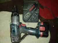 Bosch cordless hammer drill.
